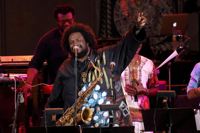 Photo Kamasi Washington at the Hollywood Bowl