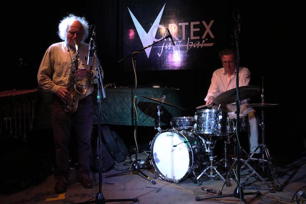 Trevor Watts and Dieter Ulrich perform at London's Vortex Jazz Club on April 17.